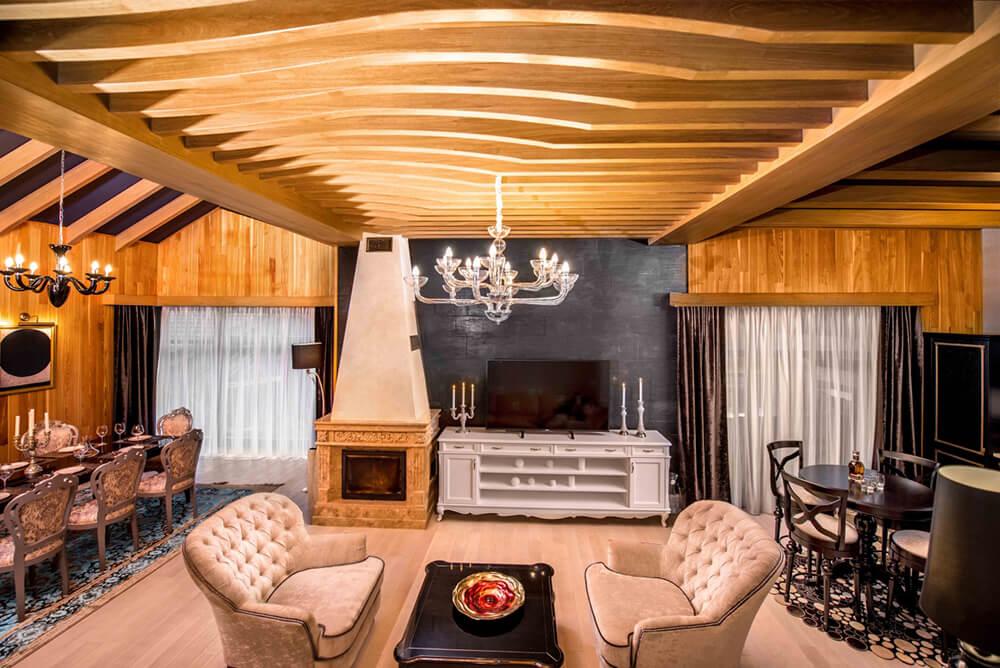 Rich Woodwork Defines This Luxury Cottage Interior