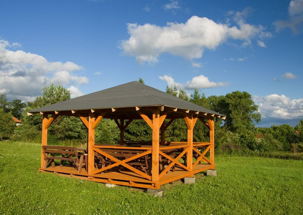 Benches are a great feature to fill a gazebo with. They provide ample seating and can make many people comfortable in the shady structure. Benches are great for sitting in your gazebo and taking in the surroundings.