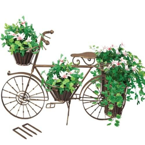 Bicycle flower planter on Amazon