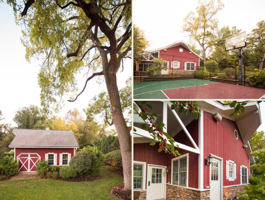 Adjacent to the basketball court, there's a small guest house with even more opportunities for entertaining friends and family.