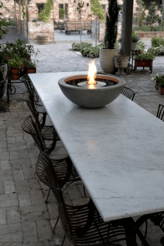 Bio-ethanol fuelled bowl-style fire pit