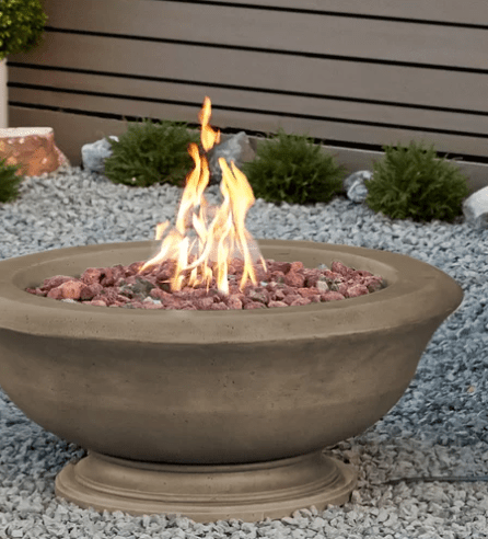 Large fire bowl pit for patio