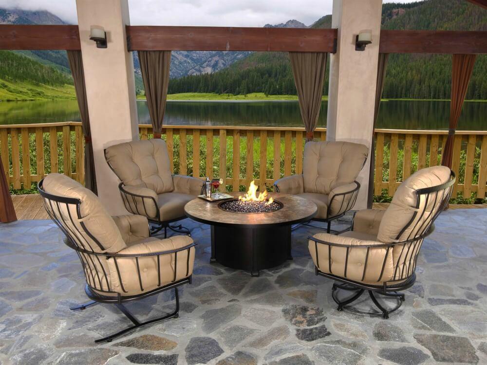 Comfortable steel frame patio armchairs