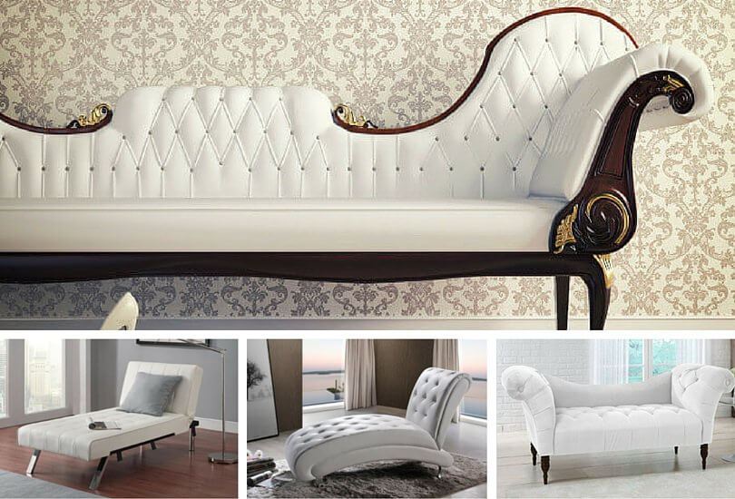 White Chaise Lounges