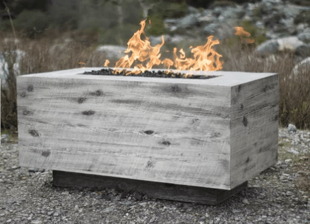 Rectangle fire pit.