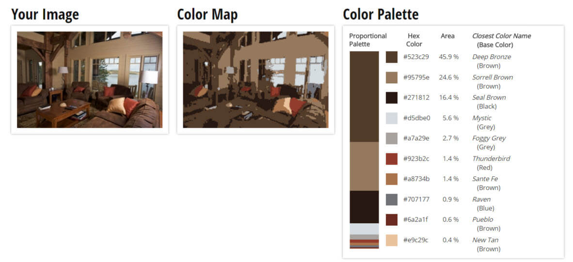 Color Palette for Deep Brown and Cream Brown Living Room Color Scheme