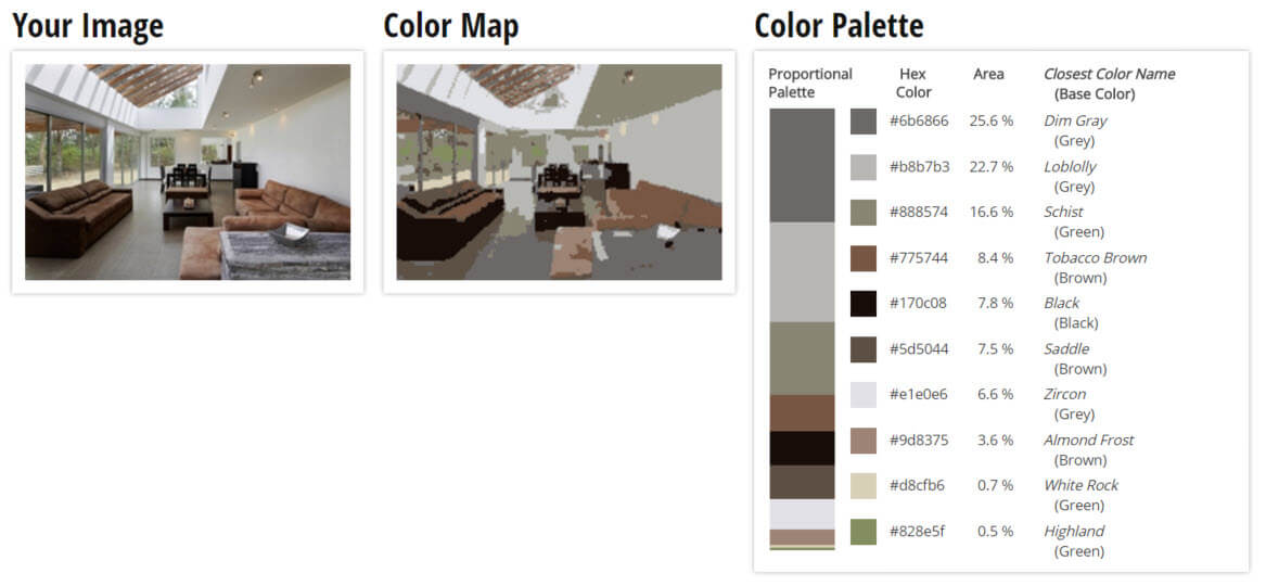 Color Palette for Grey and Brown Living Room Color Scheme