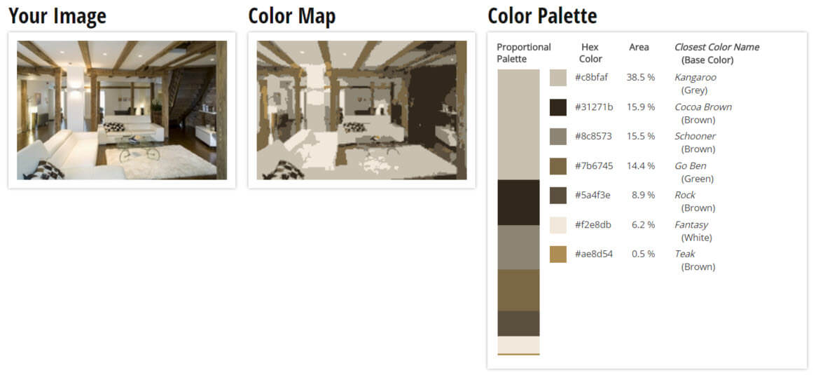 Color Palette for Grey, White, and Brown Living Room Color Scheme