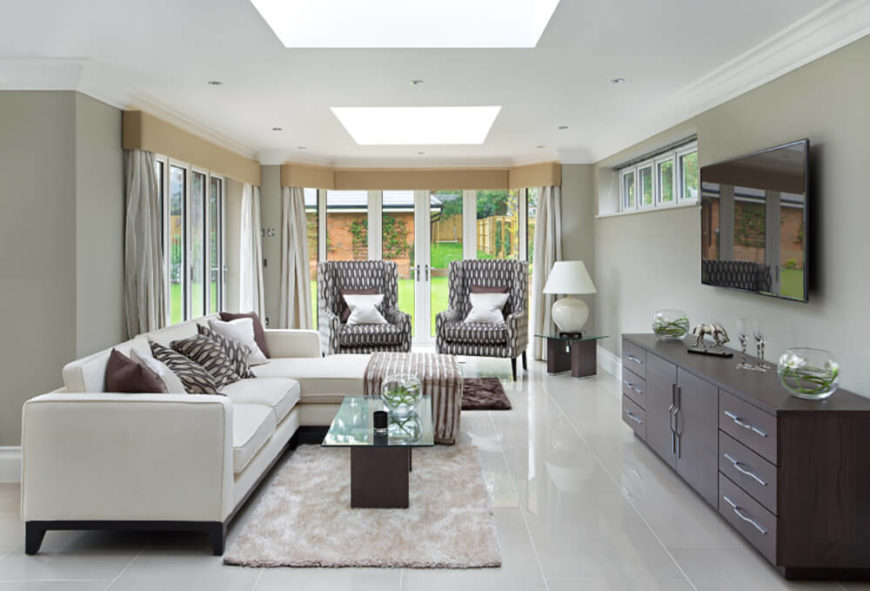 Skylights are a great feature, and let plenty of light into rooms that might otherwise be dark due to a lack of sun exposure.