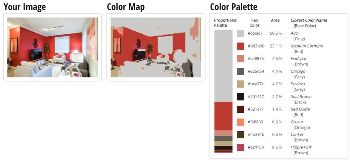 Color Palette for Red, Orange and Grey Living Room Color Scheme