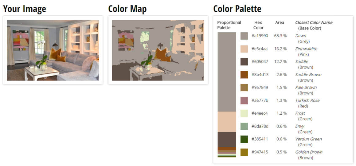 Color Palette for Grey, Brown and Green Living Room Color Scheme