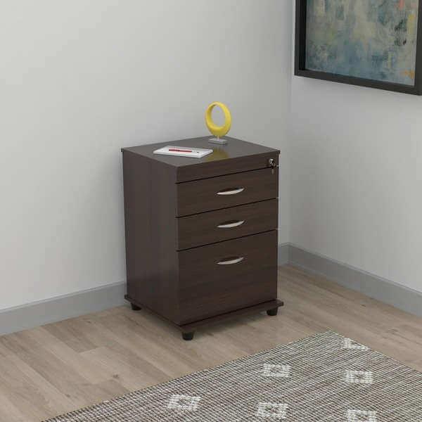 3-drawer Espresso File Cabinet
