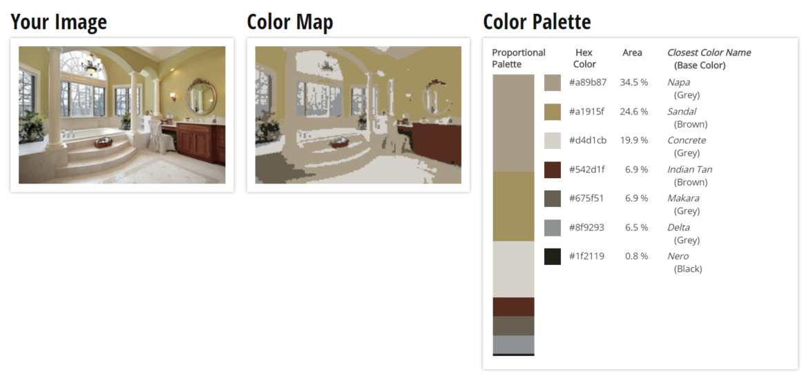 Color Palette for Cream, Tan and Brown Bathroom Color Scheme