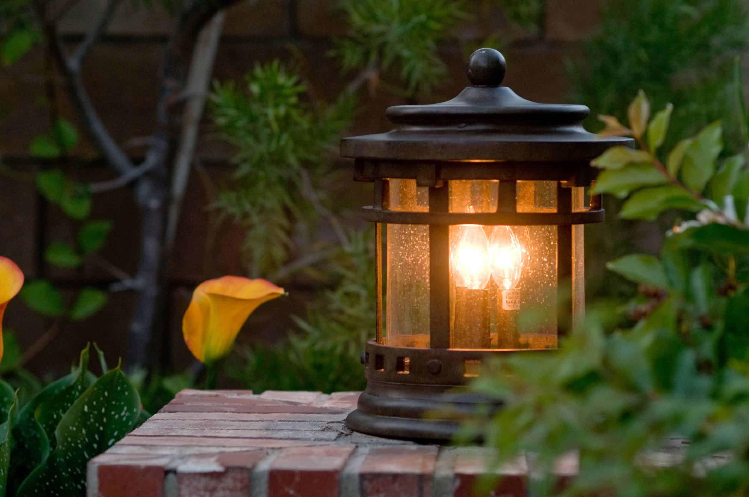 Post lantern for outside.