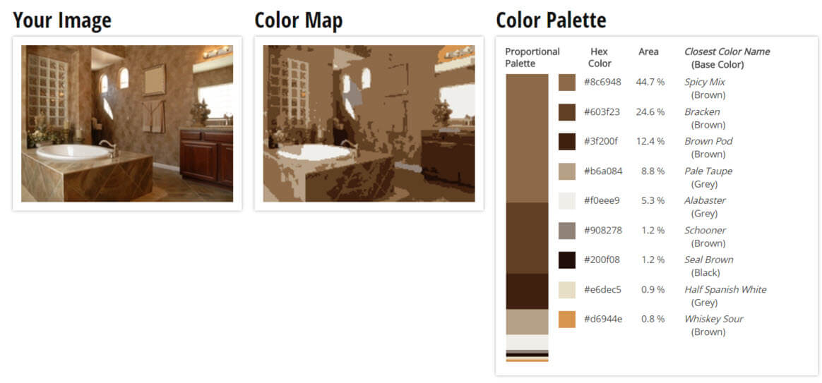Color Palette for Brown, Tan and Taupe Bathroom Color Scheme