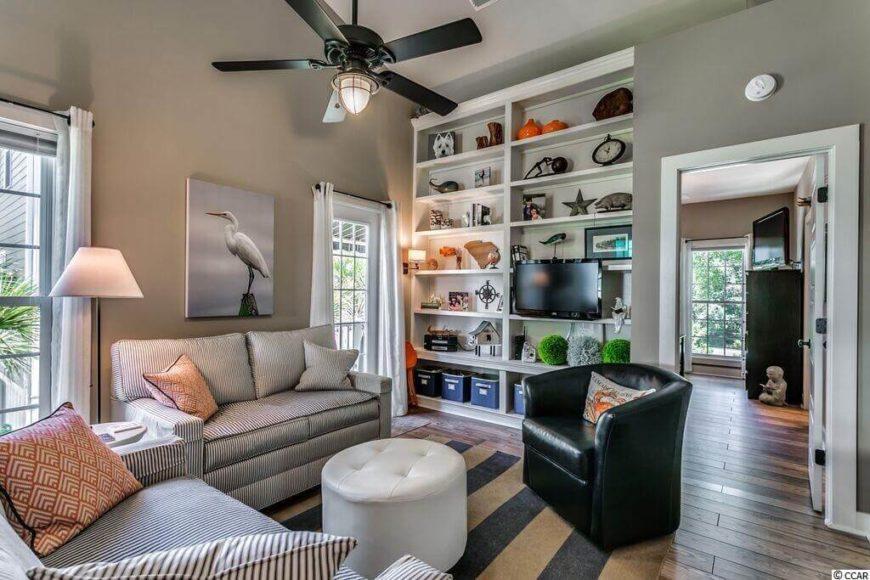 A rug can keep a hardwood or tile floor nice and cozy.
