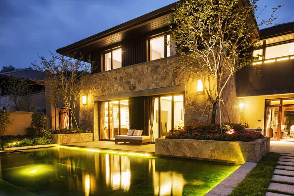 Backyard pool lighting