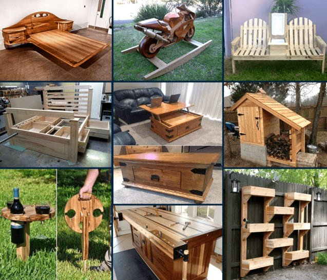 Examples of projects completed from Ted's Woodworking Plans