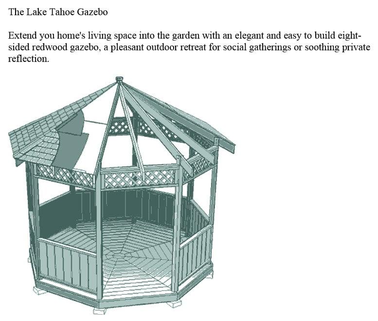 Teds Gazebo Plan Example