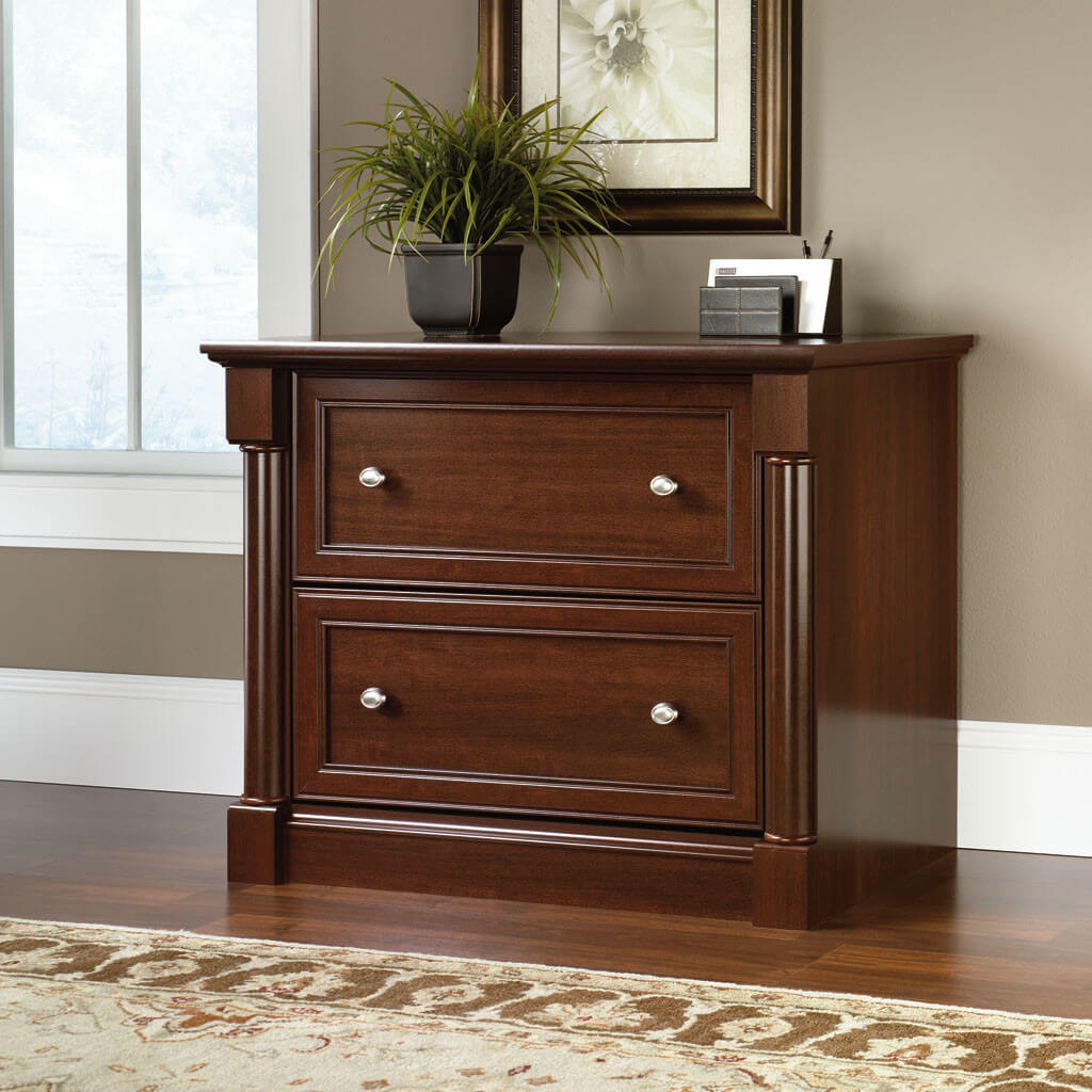 Chocolate Wood 2 Drawer Filing Cabinet
