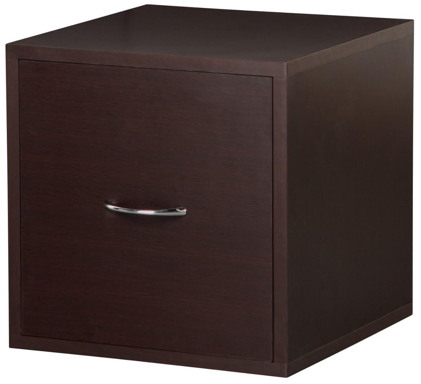 Wood single drawer cube filing cabinet