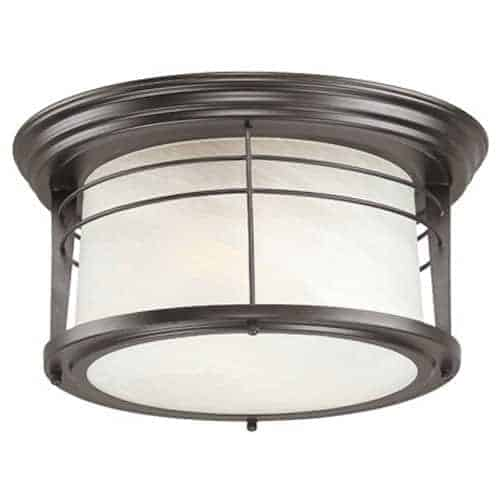 Outdoor ceiling flush mount light.