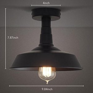 Outdoor semi-flush mount ceiling light.