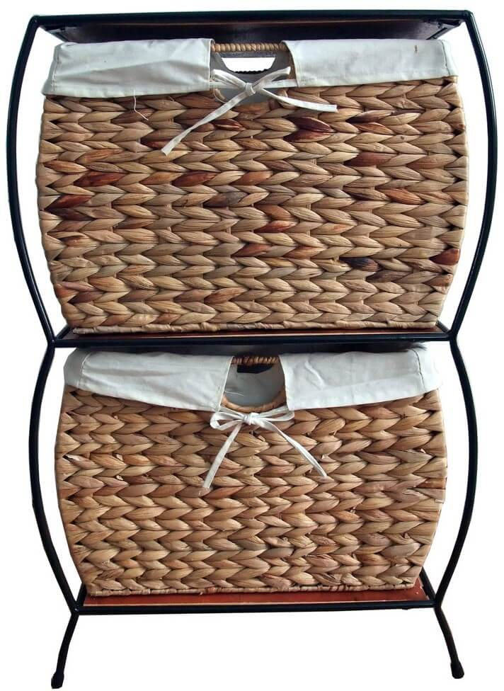 2-Drawer Wicker Filing Cabinet