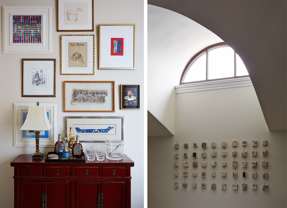 The balance of shapes and colors is visible in this design. Take a look at some of the geometric figures hanging on the wall like squares and rectangles; they look decorative but not over-designed.