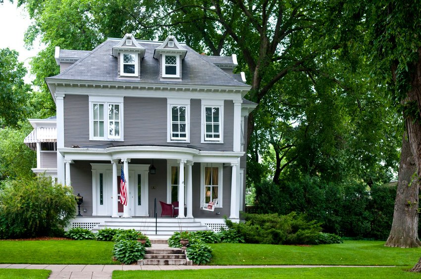 Beautifully restored American foursquare home with partial porch. Not terribly large but definitely beautiful.