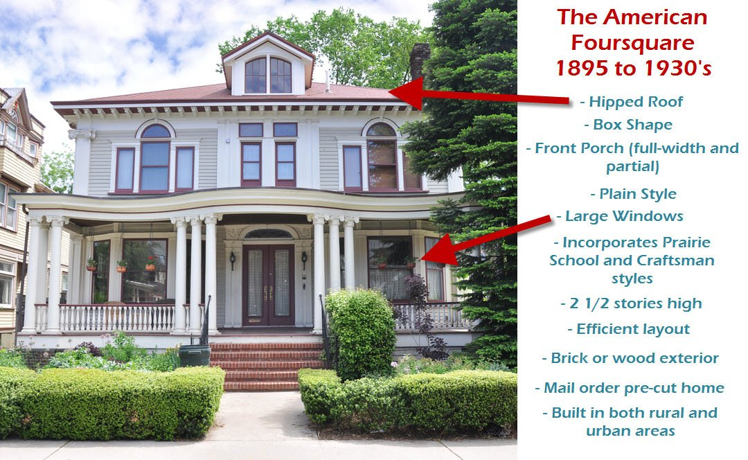 38 American Foursquare Home Photos Plus Architectural Details Home Stratosphere