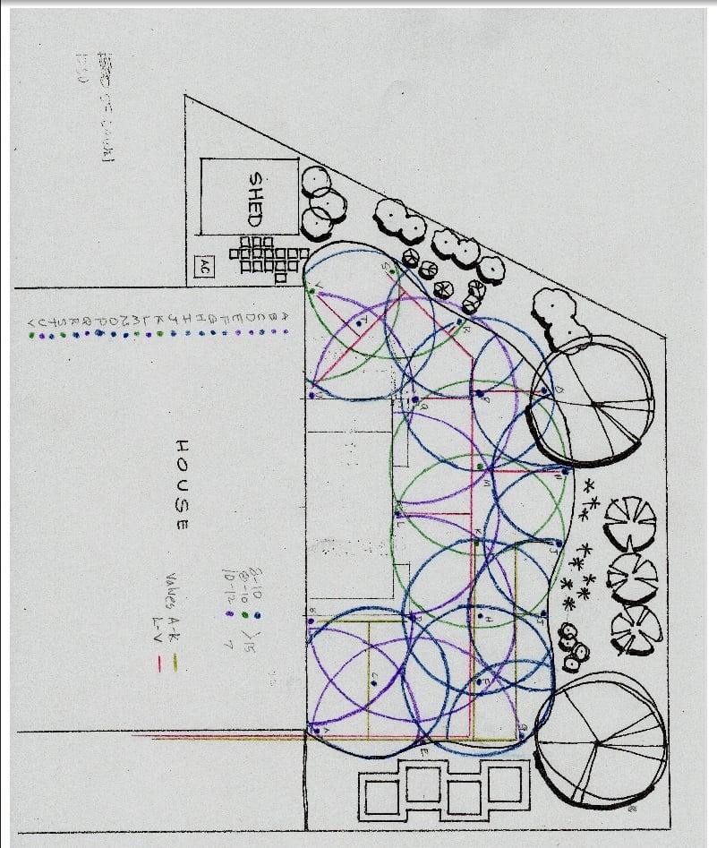 DIY sprinkler system on a timer blueprint