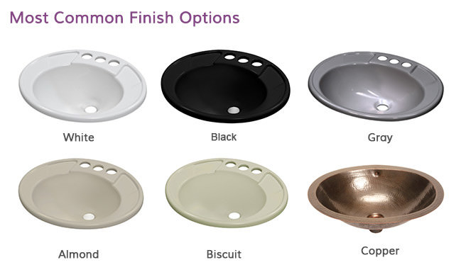 Pedestal Sink Finishes and Colors