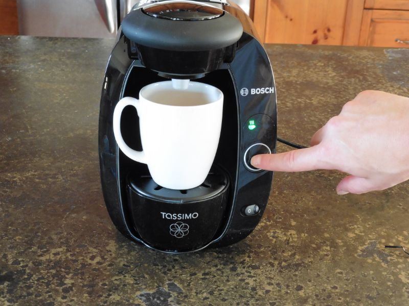 Brew Button Demonstration of Tassimo T20 Coffee Maker