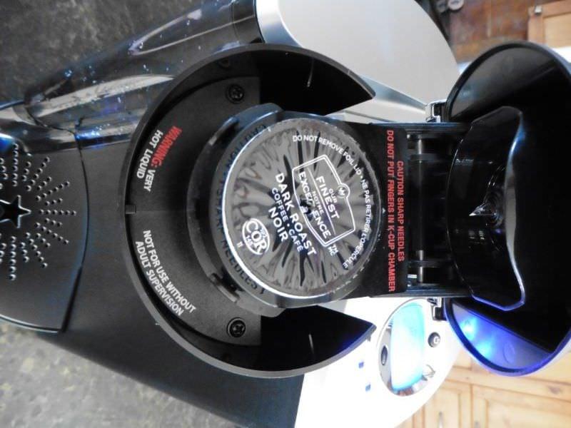 Close Up of Keurig K60 K-Cup Inserted