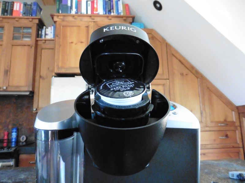 K-Cup Inserted in Keurig K60 Brewing System