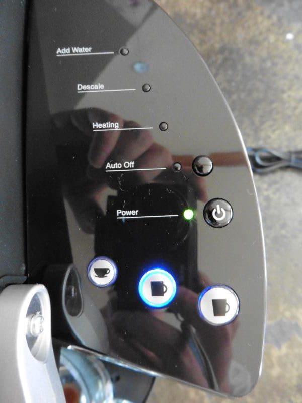 Keurig K40 Elite Close Up Control Panel