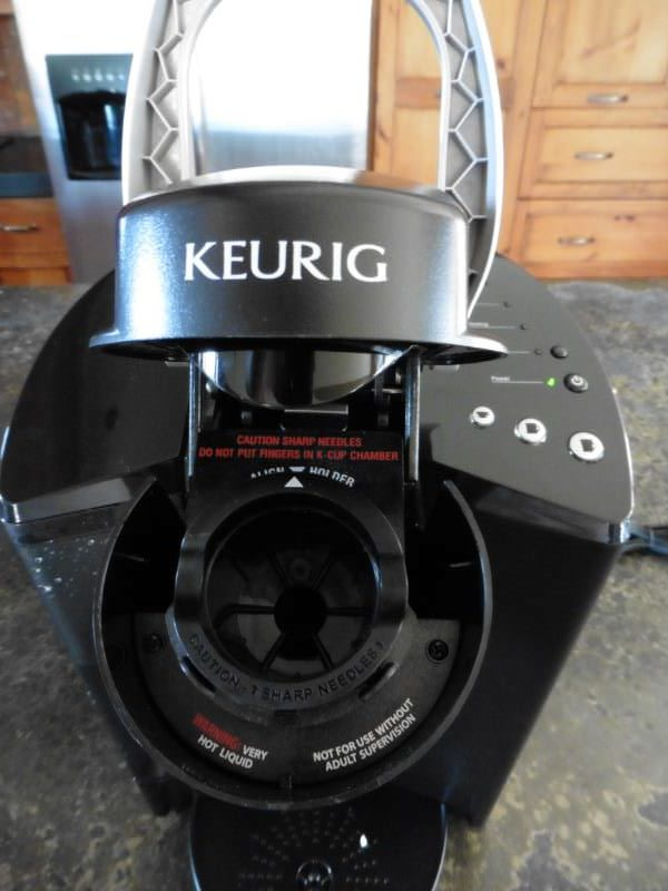 Keurig K40 Elite Coffee Machine K-Cup Slot Close Up