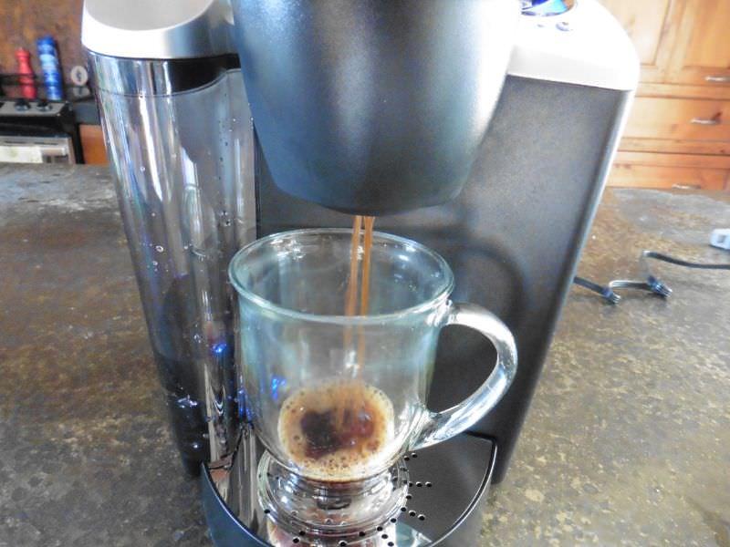Keurig K60 Brewing a Cup of Coffee