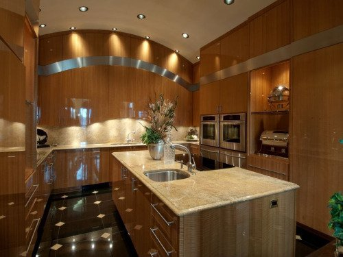 Shades of brown dominate this kitchen.