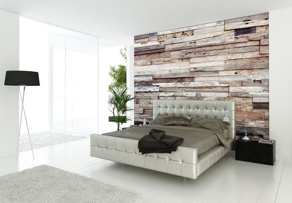 This master bedroom looks posh and sophisticated with its stark whitewashed surrounding and textured look.