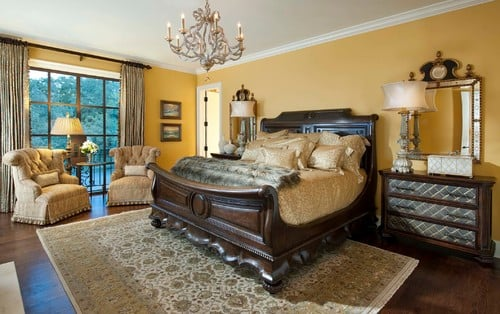 35 master bedrooms with dark wood floors Master bedroom with yellow walls