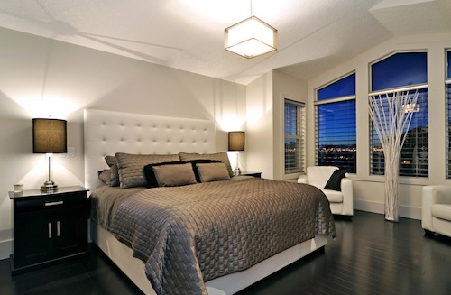 flooring add a serene and calming atmosphere for this master bedroom