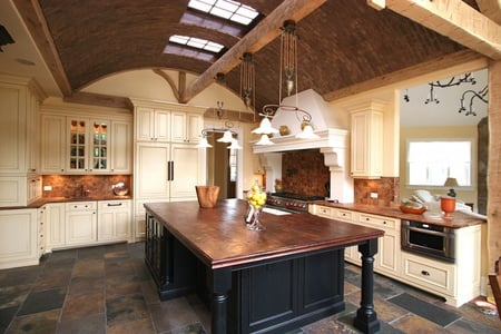 Vaulted ceilings provide a place for hot air to go.