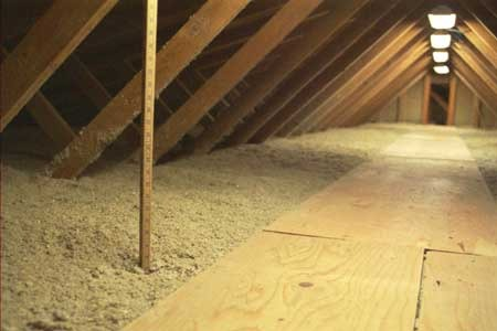 Rafters are used for insulation.