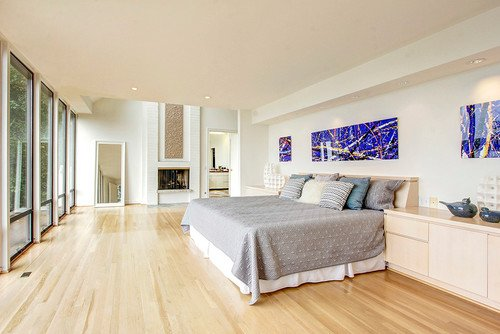 41 Master Bedrooms With Light Wood Floors