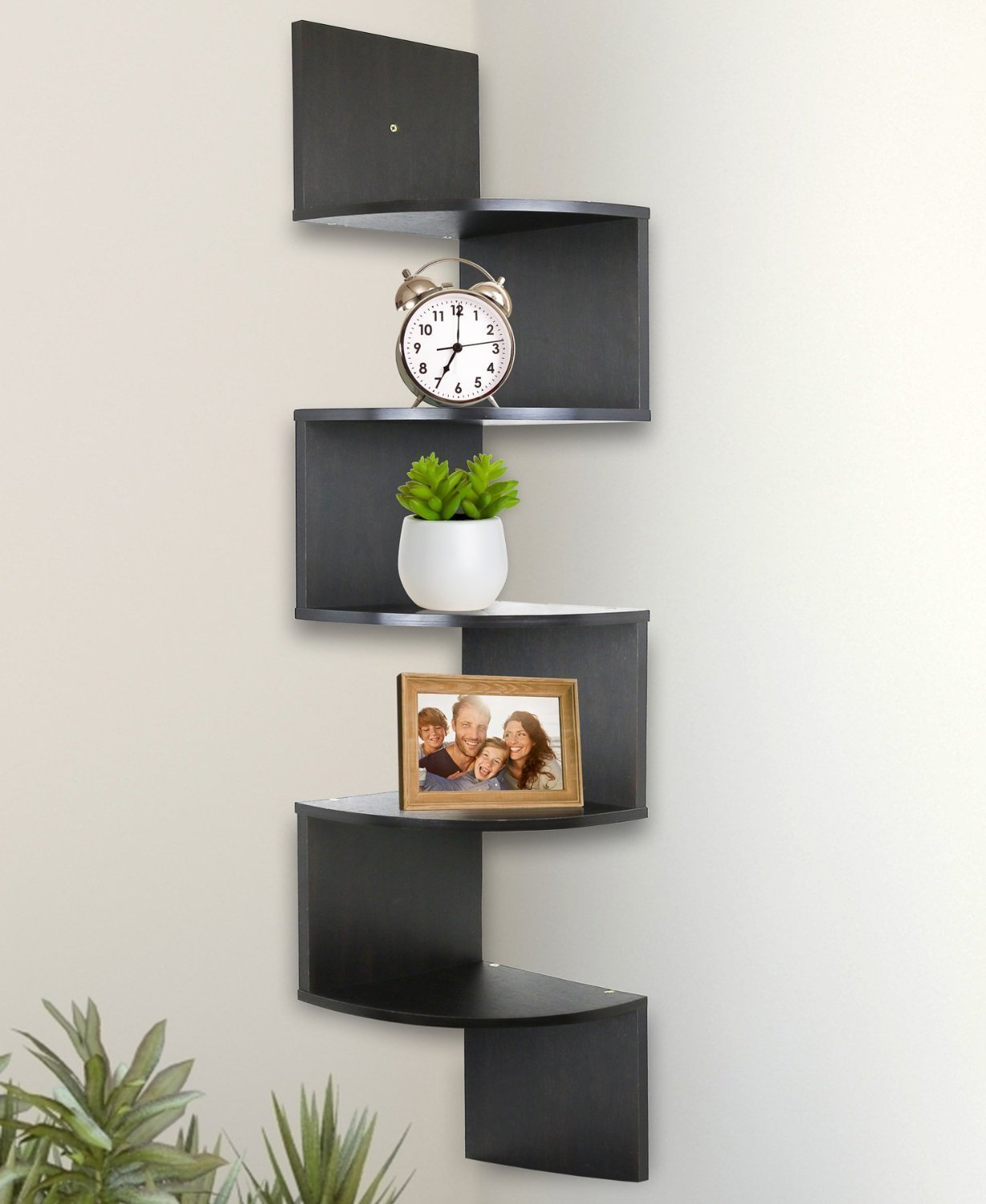 room corner white furniture living unit shelf shelves floating