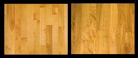 Beech hardwood floor swatch example