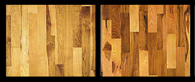 Hickory wood flooring example