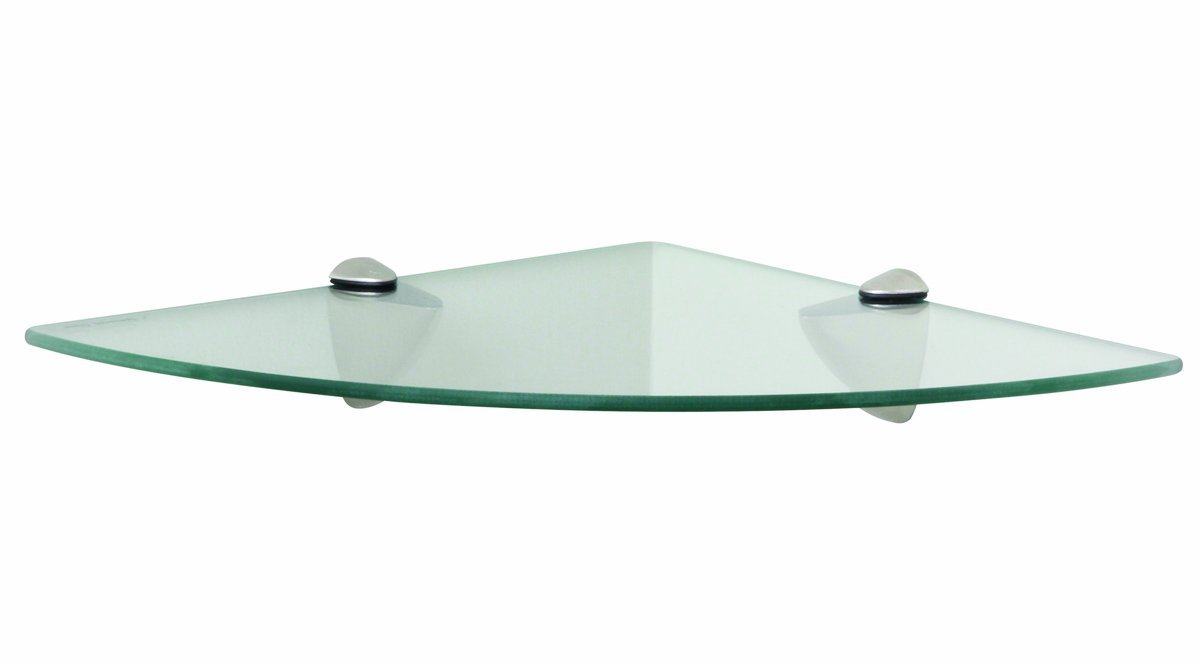 Glass Radial Floating Shelf